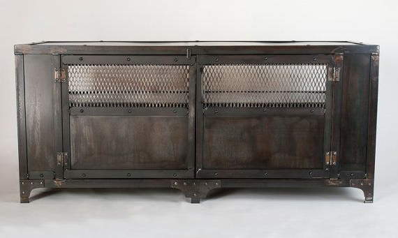 Custom Handmade Industrial Metal Media Cabinet, Tv Stand, Console Regarding Well Liked Industrial Metal Tv Stands (View 6 of 20)