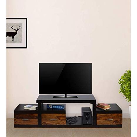 Daintree Tv Stands In Newest Daintree Sheesham Wood 1.75 Meter Dark Walnut & Teak Draw 3 Draw (Gallery 5 of 20)