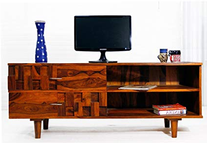 Daintree Tv Stands Within Most Popular Daintree Anna Solid Wood Tv Entertainment Unit (Natural Teak Finish (Gallery 6 of 20)