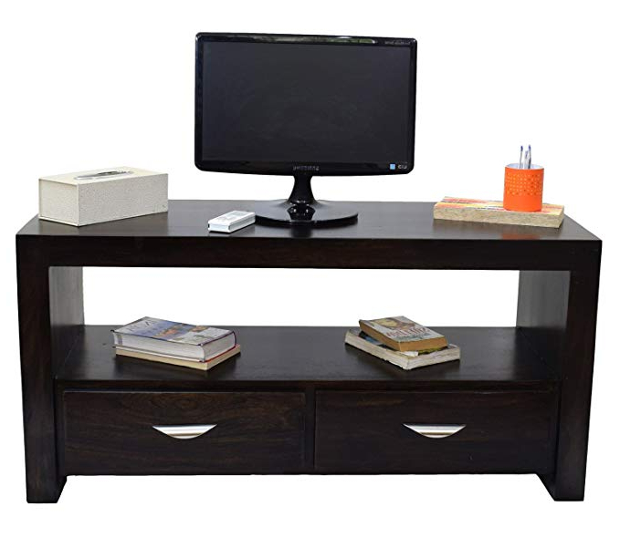 Daintree Tv Unit Cabinet Stand (lacquer Finish, Dark Walnut): Amazon Intended For Trendy Daintree Tv Stands (View 2 of 20)