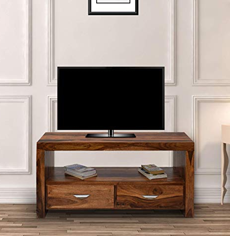 Daintree Tv Unit Cabinet Stand (lacquer Finish, Natural Teak Pertaining To Well Known Daintree Tv Stands (Gallery 1 of 20)