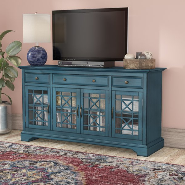 Dark Blue Tv Stand (Gallery 17 of 20)