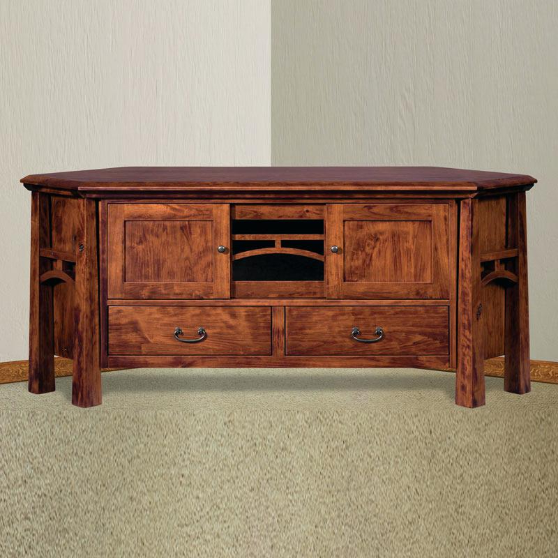 Dark Brown Corner Tv Stands Inside Best And Newest Rustic 60 Inch Tv Stand Corner Stand With Drawers Hacienda 60 Dark (View 7 of 20)
