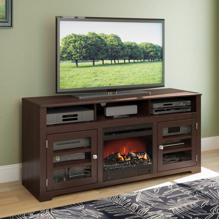 Dark Espresso Brown 60 Inch Fireplace Tv Stand – West Lake (Gallery 10 of 20)