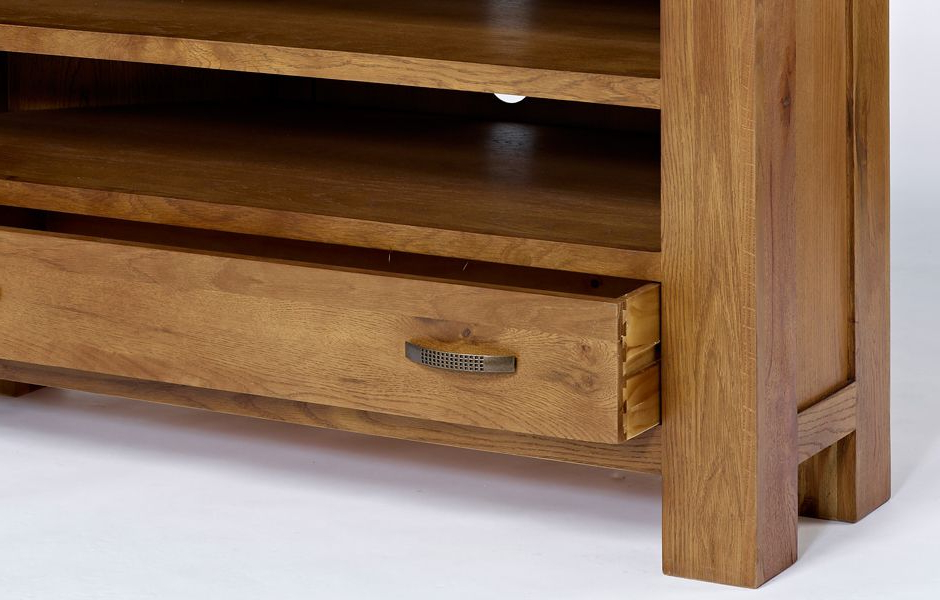 Dark Oak Corner Tv Unit – Rustic Santana Oak Inside Trendy Santana Oak Tv Furniture (Gallery 7 of 20)