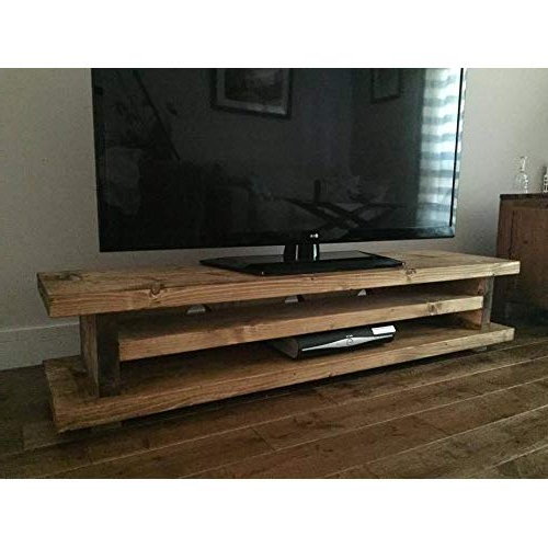 Dark Oak Tv Stand: Amazon.co.uk Within Most Recent Dark Tv Stands (Gallery 7 of 20)