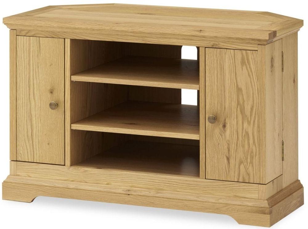 Dark Wood Corner Tv Stands With Well Known Buy Bentley Designs Provence Oak Corner Tv Unit Online – Cfs Uk (Gallery 12 of 20)