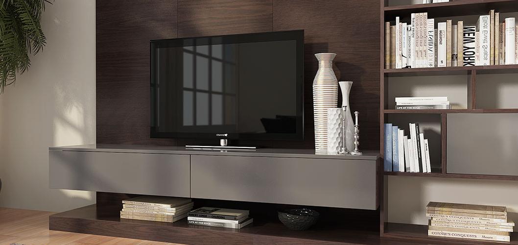 Dark Wood Tv Cabinet, Tv Bookcase Design Idea – Oppeinhome Regarding Popular Dark Wood Tv Cabinets (Gallery 19 of 20)