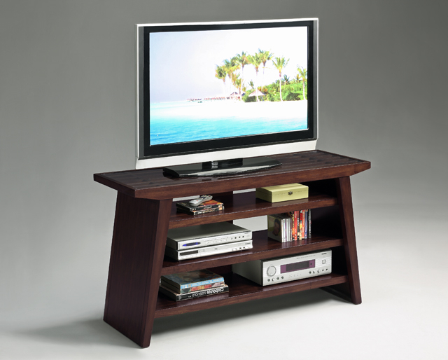 Dark Wood Tv Stands Throughout Preferred 32''h Modern Design Wood Tv Stand Withtampered Glass Top Dark Brown (Gallery 20 of 20)