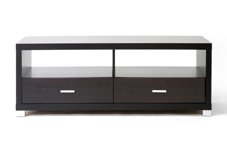 Derwent Modern Tv Stand With Drawers Dark Brown With Well Known Dark Tv Stands (Gallery 1 of 20)