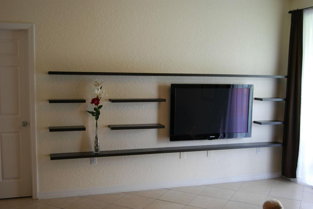 Design Creative Tv Shelf — Gbvims Makeover Throughout Trendy Shelves For Tvs On The Wall (Gallery 13 of 20)