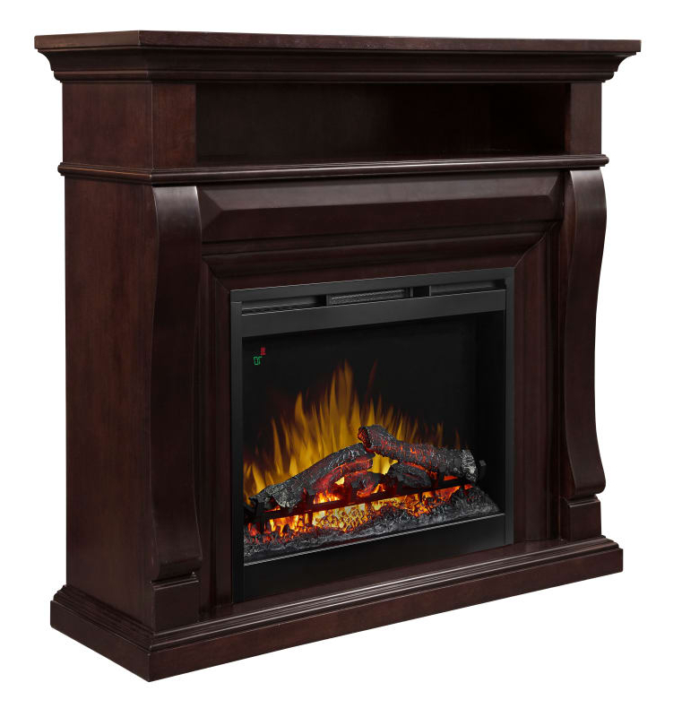 Dimplex Dfp26L5 1881 Noah Mantle 5118 Btu 46 Inch Wide Free Standing Intended For Well Known Noah 75 Inch Tv Stands (Gallery 12 of 20)