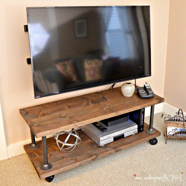 Diy Projects With Most Popular Industrial Style Tv Stands (View 5 of 20)