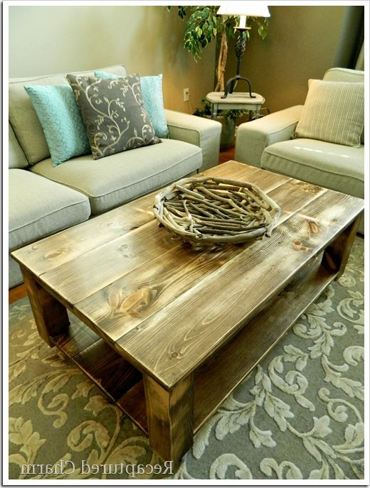 Diy: Rustic Coffee Table. I Love This! I Would Want Matching End Within Popular Rustic Coffee Table And Tv Stand (Gallery 3 of 20)