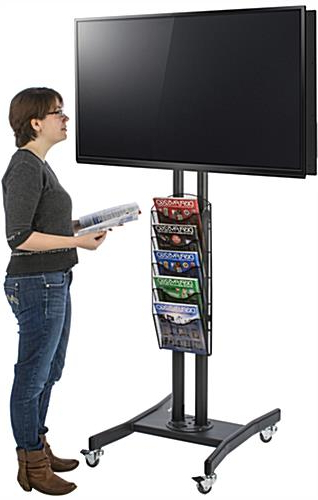 Double Tv Stands In Most Current Dual Monitor Display With Literature Holder (View 7 of 20)