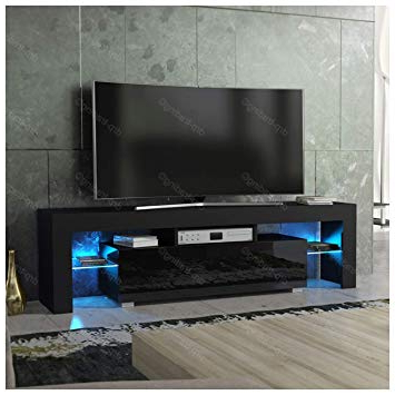 Drp Trading Modern Tv Unit 160Cm Cabinet Black Matt And: Amazon (View 10 of 20)