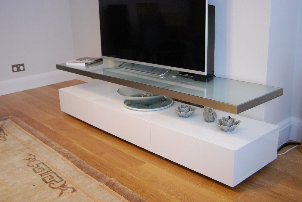Dwell Tv Stands For Most Popular Dwell Floating Shelf Tv Unit White (View 9 of 20)