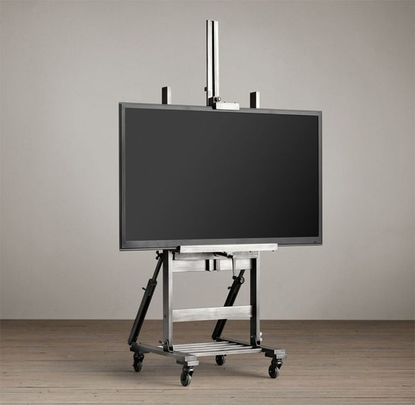 Easel Tv Stands For Flat Screens For Most Popular Industrial Television Displays : Metal Tv Easel (Gallery 7 of 20)