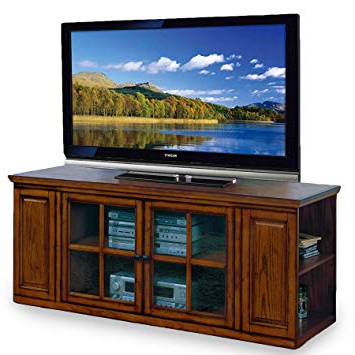 Edwin Grey 64 Inch Tv Stands With Regard To 2018 Amazon: Leick Riley Holliday Tv Stand, 62 Inch, Burnished Oak (Gallery 19 of 20)