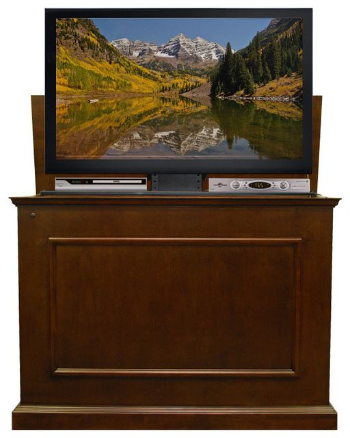 Elevate Espresso Finish Tv Lift Cabinet, Elevate Espresso Finish Tv Inside Well Known Traditional Tv Cabinets (View 17 of 20)