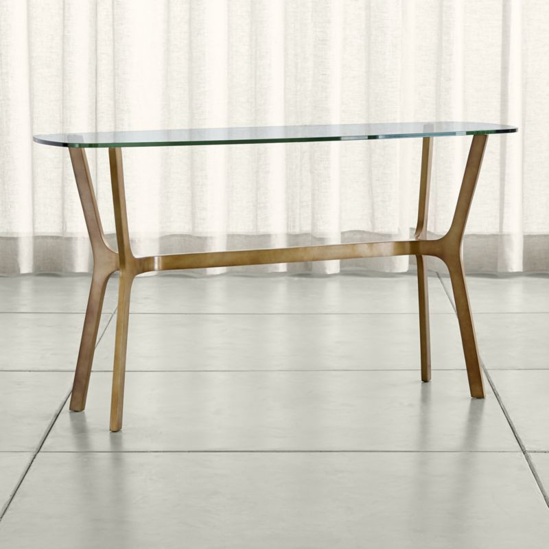 Elke Glass Console Table – Crate And Barrel (Gallery 1 of 20)