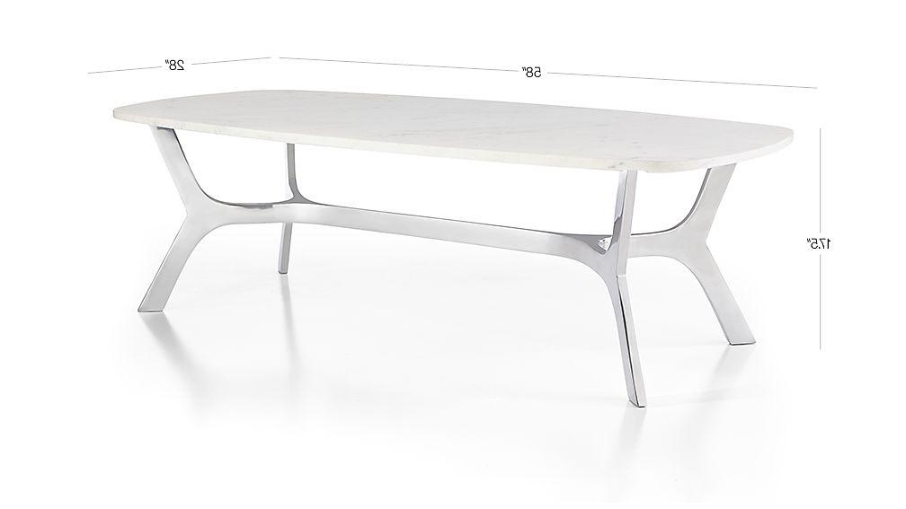 Elke Glass Console Tables With Polished Aluminum Base Inside Fashionable Elke Rectangular Marble Coffee Table With Polished Aluminum Base + (Gallery 15 of 20)