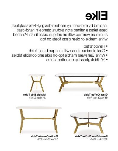 Elke Glass Console Tables With Polished Aluminum Base Inside Most Up To Date Crate & Barrelbonnie Michel At Coroflot (Gallery 11 of 20)