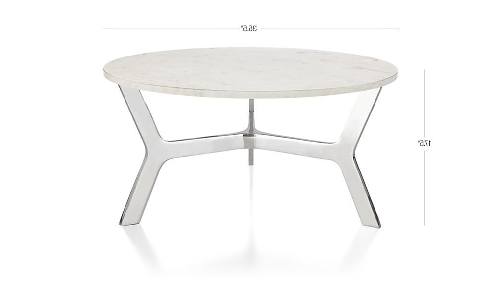 Elke Glass Console Tables With Polished Aluminum Base Throughout Most Up To Date Elke Round Marble Coffee Table With Polished Aluminum Base (View 11 of 20)