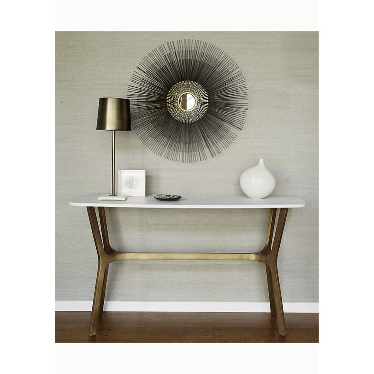 Elke Marble Console Table With Brass Base Within Fashionable Elke Marble Console Tables With Brass Base (View 4 of 20)