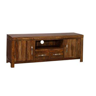Emerson Natural Sheesham Entertainment Center With Most Current Emerson Tv Stands (View 5 of 20)