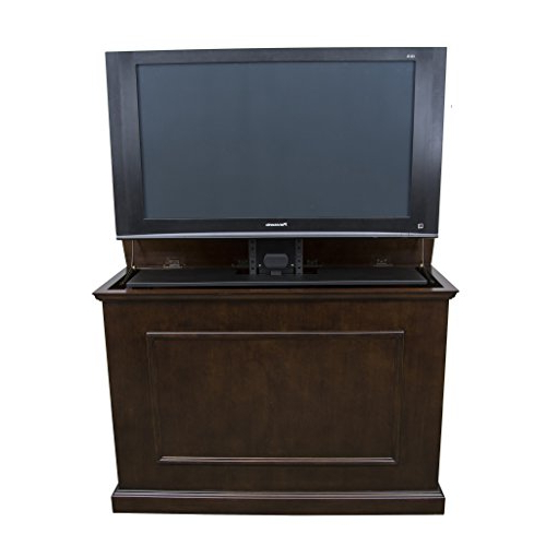 Enclosed Tv Cabinets For Flat Screens With Doors Regarding Most Recent Amazon: Touchstone 72008 – Elevate Tv Lift Cabinet – Tvs Up To (Gallery 19 of 20)