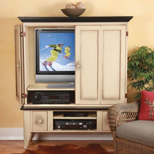 Enclosed Tv Cabinets For Flat Screens With Doors With Regard To 2018 Tv Cabinet With Doors : Interior – Calvarymidrivers (Gallery 3 of 20)