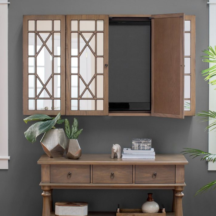 Enclosed Tv Cabinets With Doors Pertaining To Most Current Tv Cabinet With Doors To Hide Enclosed Wall Cabinets Flat Screens (View 5 of 20)