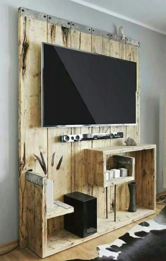 Entertainment Center, Wooden Inside Recent Noah Rustic White 66 Inch Tv Stands (View 4 of 17)
