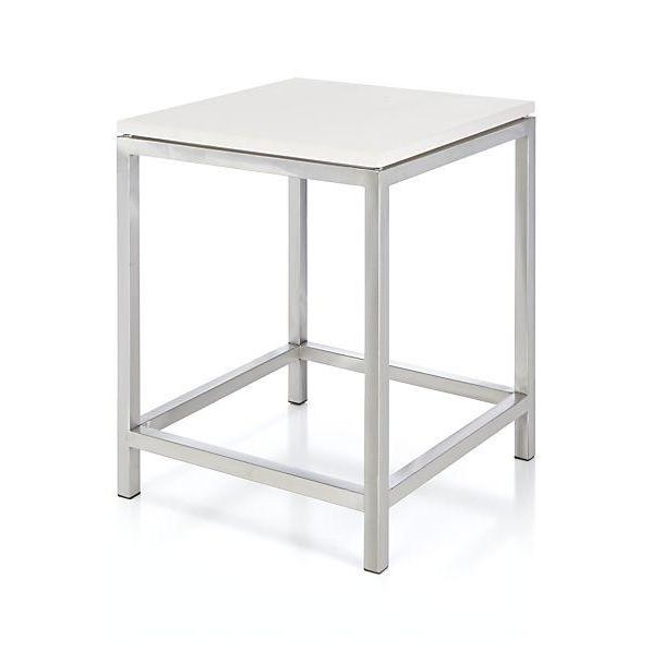 Era Limestone Console Tables For Most Popular Era Limestone Silver And White Side Table (View 7 of 20)