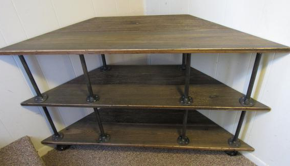 Etsy For Famous Industrial Corner Tv Stands (Gallery 18 of 20)