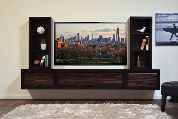 Etsy Intended For Modern Wall Mount Tv Stands (Gallery 13 of 20)