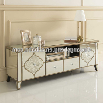 European Style Luxury High Quality Mirrored Tv Cabinet Unit – Buy Intended For 2017 Mirrored Tv Cabinets (View 12 of 20)