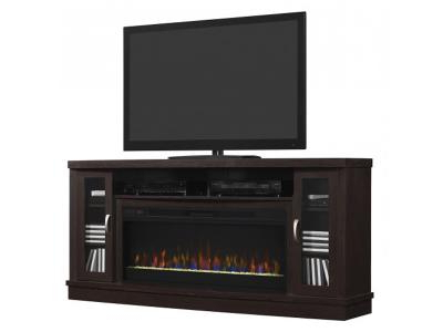 Expresso Tv Stands Inside Fashionable Bello Hutchinson Tv Stand For Tvs Up To 80 Oak Expresso Mantle Huchins (View 6 of 20)