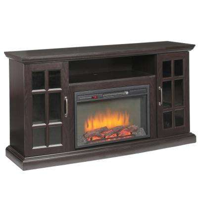 Expresso Tv Stands Intended For Most Popular Espresso – Fireplace Tv Stands – Electric Fireplaces – The Home Depot (View 7 of 20)