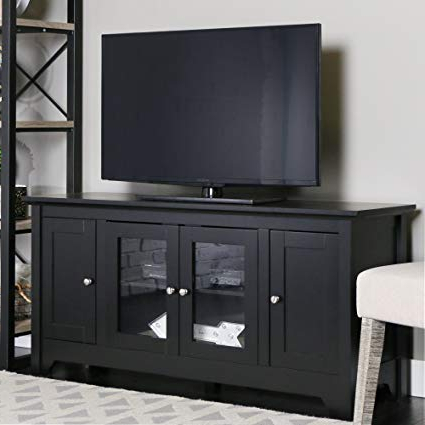Famous Bibgfq Black Wood Tv Cabinet Shoe Cabinet Tall Bathroom Cabinets Within Dark Wood Tv Cabinets (View 9 of 20)