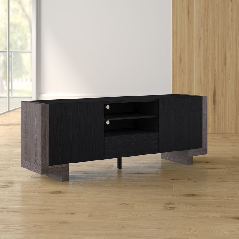 Famous Brayden Studio Halton Contemporary Tv Stand For Tvs Up To 65 Pertaining To Contemporary Tv Stands (View 9 of 20)