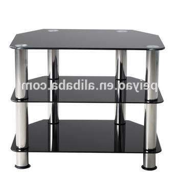 Famous Cheap Small 3 Tier Black Glass Tv Unit Corner Tv Stands – Buy Tv Within Black Glass Tv Cabinets (View 9 of 20)