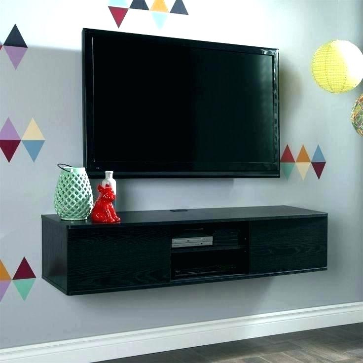 Famous Console Tables Under Wall Mounted Tv Intended For What To Put Under Wall Mounted Tv Table Wall Mount Large Size (View 10 of 20)