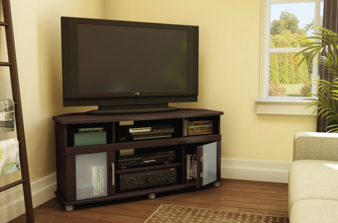 Famous Corner Tv Cabinets For Flat Screens Regarding Living Room: Spectacular Corner Tv Stand For 55 Inch Flat Screen For (View 18 of 20)