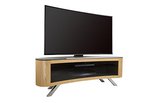 Famous Curve Tv Stands With Regard To Avf Bay Curved Tv Stand In Oak: Amazon.co (View 7 of 20)