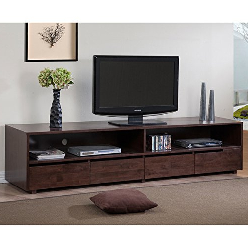 Famous Dark Walnut Tv Stands In  (View 5 of 20)