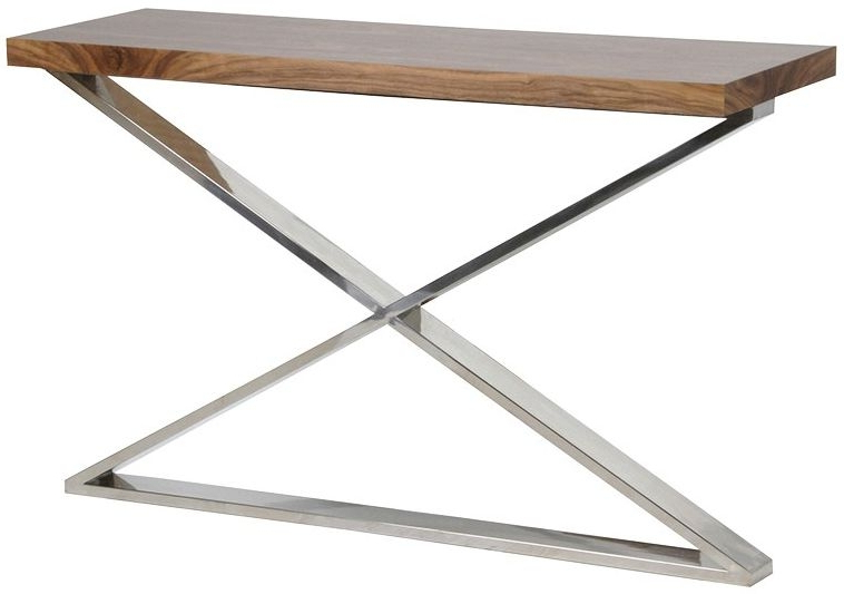 Famous Frame Console Tables Intended For Buy Morton Walnut X Frame Console Table Online – Cfs Uk (View 4 of 20)