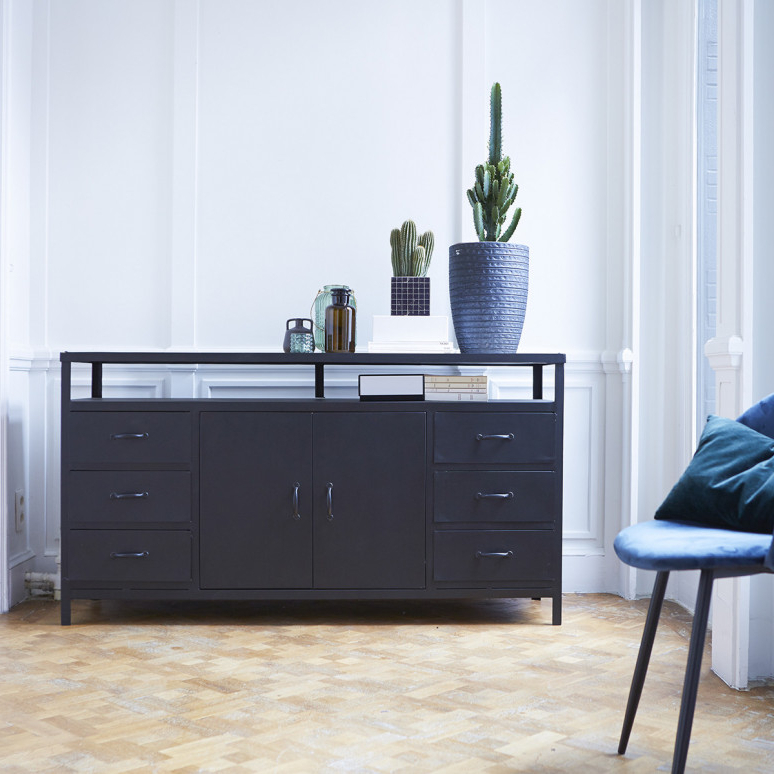 Famous Industrial Style Tv Stands Within Industrial Style Tv Unit In Metal – Industrial Style Tv Stand (View 6 of 20)