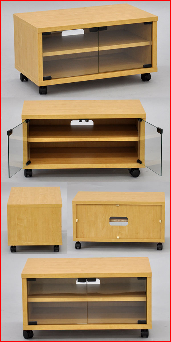 "Famous Kaguto: ""tv Stand Tv Stand Glass Doors M Width 60 Cm Depth 35 Cm For Wooden Tv Stands With Glass Doors (View 4 of 20)"